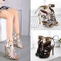 Sandalias de verano de las mujeres talones correa del tobillo zapatos de la boda zapatos de Tacones Altos de Las Mujeres stilettos peep toe Tacones Altos borlas sandalias X358