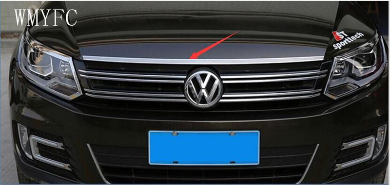 Stainless Steel Front Bonnet Machine Cover Molding Trim 1pcs Fit For VW Volkswagen tiguan 2010 2011 2012 2013 2014 2015 2016 stainless steel front bonnet machine cover molding trim 1pcs fit for vw volkswagen tiguan 2010 2011 2012 2013 2014 2015 2016