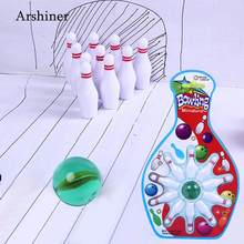 New Mini Desk top Bowling Game Toy Set Kids Children Indoor Fun Bowling Pin Toy Developmental Parent-Child Interact Sports Toy(China)