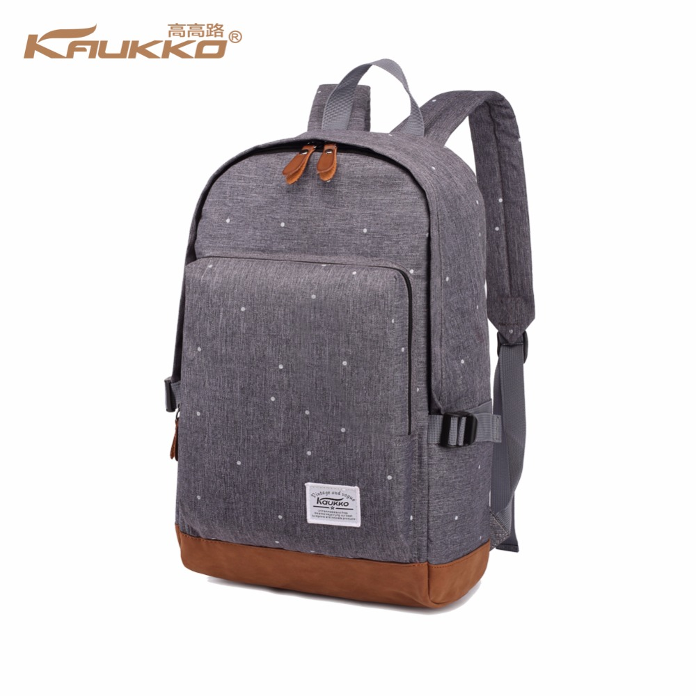 цена на KAUKKO brand cool urban backpack men unisex light sleek minimalist fashion backpack women 14 15 Laptop Backpack schoolbag