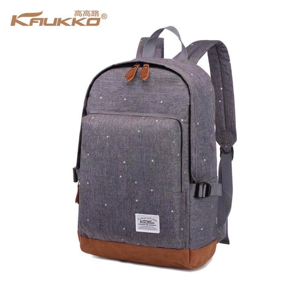 KAUKKO brand cool urban backpack men unisex light sleek minimalist fashion backpack women 14 15 Laptop Backpack schoolbag kaukko fp84