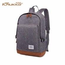 """KAUKKO marke urban rucksack männer unisex licht glatte minimalistische mode rucksack frauen 14 """"15"""" Laptop Rucksack schul"""