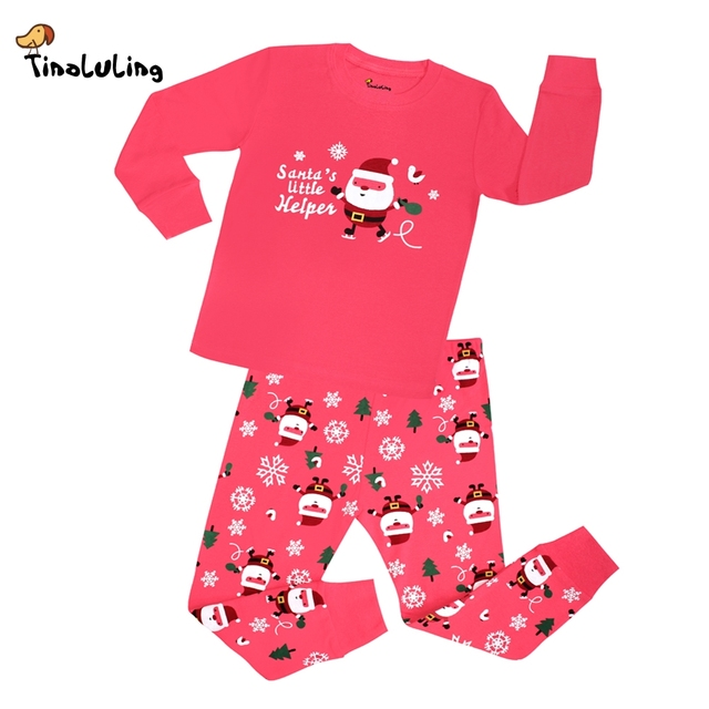 TINOLULING 21 design baby girls christmas pajamas sets baby sleepwear children pyjamas kids cars animal pijamas