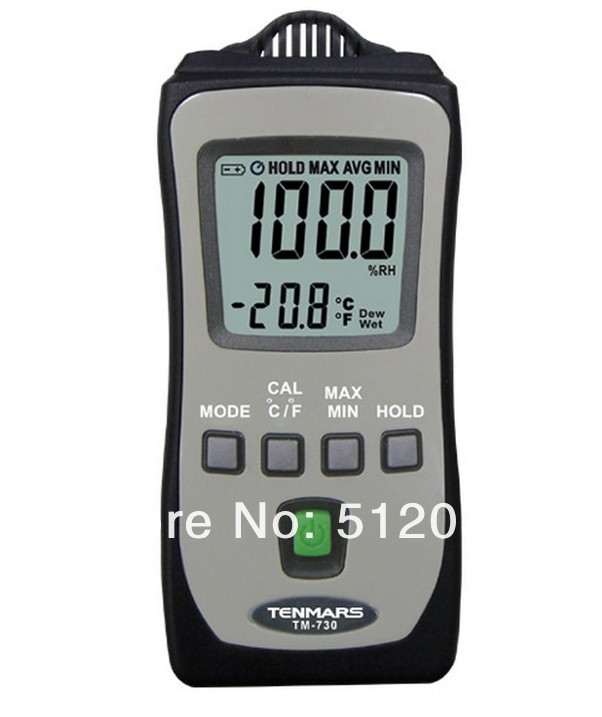 Mini Pocket Temperature Humidity RH Meter wet bulb dew point Tenmars TM-730 indoor air quality pm2 5 monitor meter temperature rh humidity