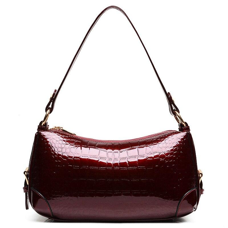 2015 New Fashion Leisure Bag Moon Pillow Bag Satchel Handbag Crocodile Handbag Shoulder Bag,High quality Japan Style PU bag