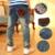 2016 Nuevos Niños de La Manera Pantalones Vaqueros de Cintura Elástica pantalones Rectos de bolsillo estrella de cinco puntas pantalones pies niños boy jeans
