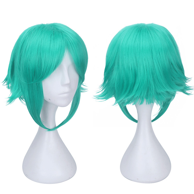 Land of the Lustrous Houseki no Kuni Phosphophyllite green Mix Short Synthetic Hair Cosplay Full headgear Hair CM008