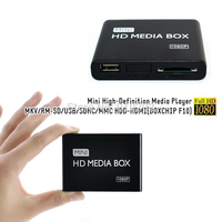 30pcs New Mini 1080P Full HD Multimedia HDD Media Player With HDMI Support MKV RM SD