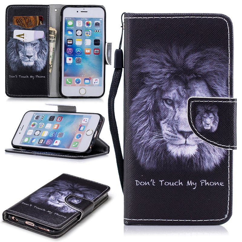 Luxury Wallet Flip Case For iPhone 6S 6 Plus 7 5 5S SE Case X 8 Card Leather Holder Phone Cover For iPhone 7 6 5 S X 10 8 Plus in Flip Cases from Cellphones Telecommunications