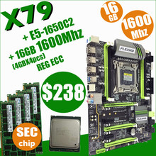 لوحة أم تربو X79 من بليكسهد LGA2011 ATX combos E5 1650 C2 (4 قطعة x 4 جيجابايت) 16 جيجابايت 1600 ميجاهرتز PC3 12800R PCI-E NVME M.2 SSD USB3.0 SATA3(China)