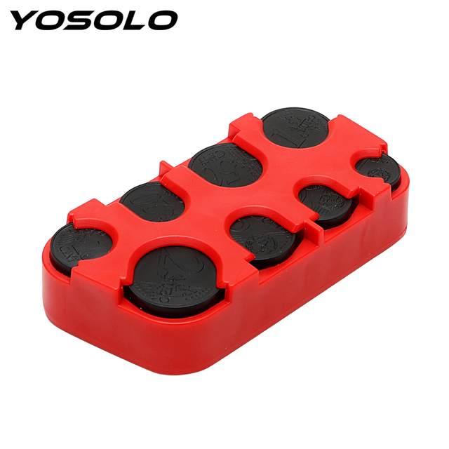 YOSOLO Car Euro Coin Case Money Container Organizer Auto Coin Holder Storage Box Plastic Stowing Tidying Car-styling