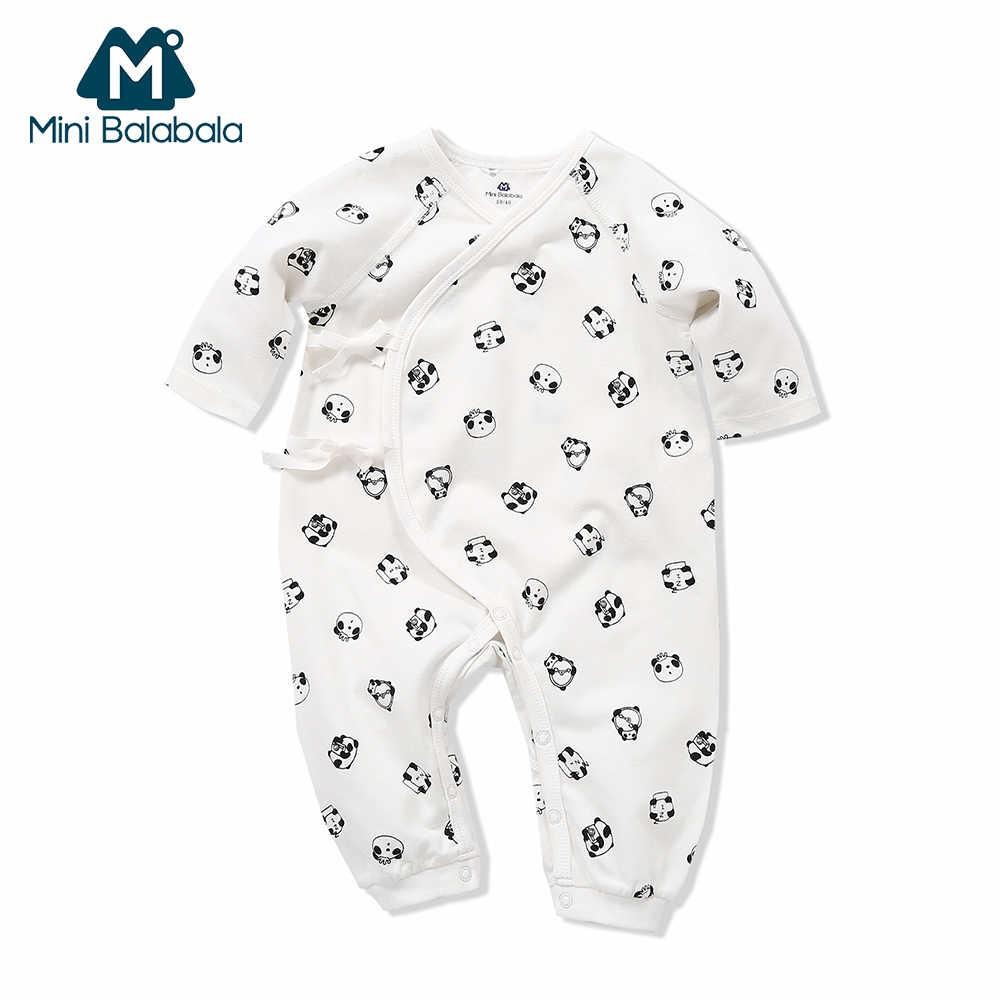 a78a7ab6fb Mini Balabala Baby Romper Long Sleeve 100% Cotton Jumpsuit Pajamas  One-Piece Newborn Infant