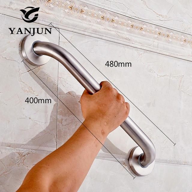 Yanjun Safety Helping Handle Stainless Steel Grab Bar Assist Safety Handle Bars 300/400/500mm Anti-slip Grip For Elder YJ2022S