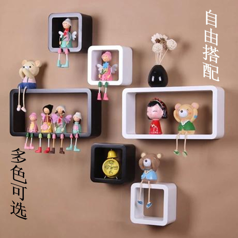 Wood Wall Hanging wholesale price new store open creative wood wall hanging shlef