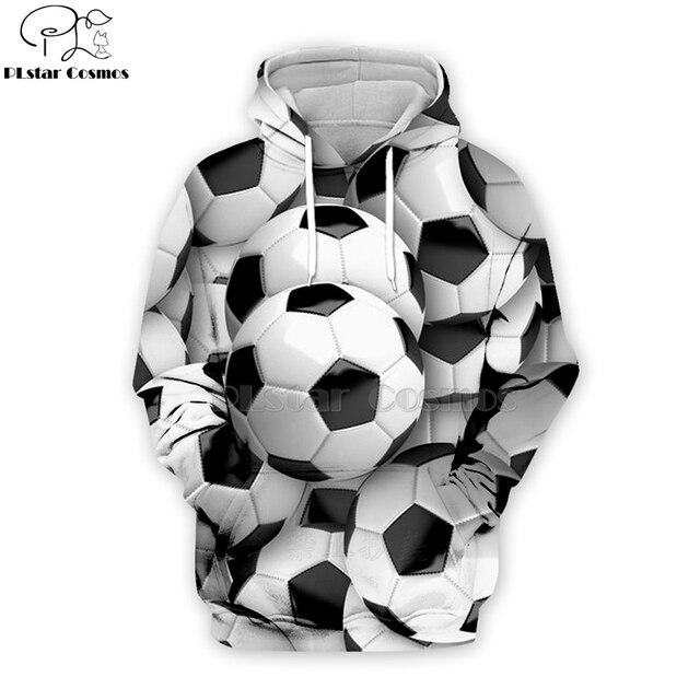 PLstar Cosmos sport footballs 3D Print Hoodies/Sweatshirt/Jacket/shirts Tees Men Women Galaxy Unisex streetwear Drop shipping-6