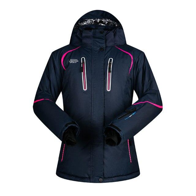 2018 MUTUSNOW Women Ski Jacket Snowboard Jacket Skiing Coat Windproof  Waterproof Thicken Thermal Outdoor Sport Wear 04ffc474d
