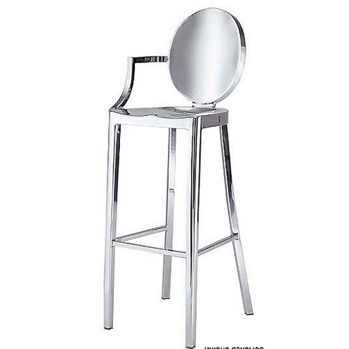 ghost bar chair stylish office chairs uk stool stainless steel devil fashion leisure metal