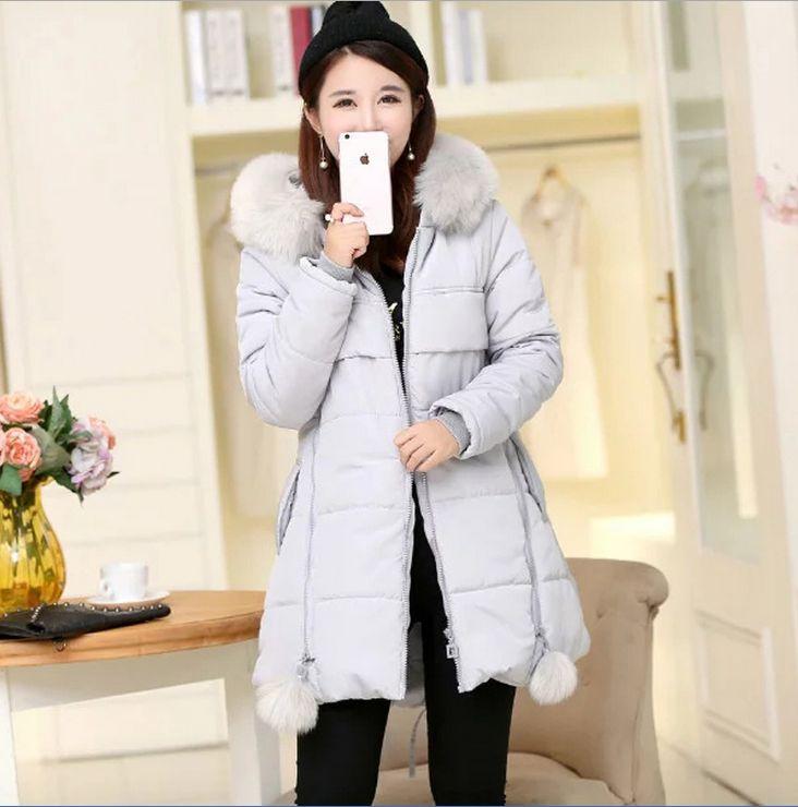 ФОТО 2016 Winter Thickening Women Parkas Women's Wadded Jacket Outerwear Fashion Cotton-padded Jacket Medium-long Coat