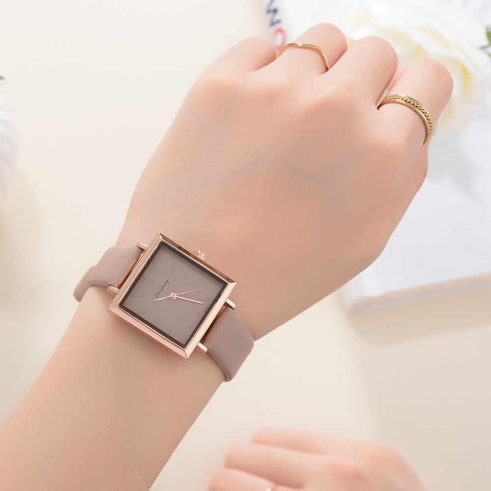 למעלה מותג כיכר נשים צמיד שעון נדבק עור קריסטל שעוני יד נשים שמלה גבירותיי קוורץ שעון Dropshiping Fi