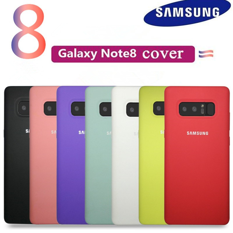 100% Original Samsung cover For Samsung Galaxy Note 8 N9500 N950F Silicone Back Case Protection 360 Anti-Wear case 7 colour