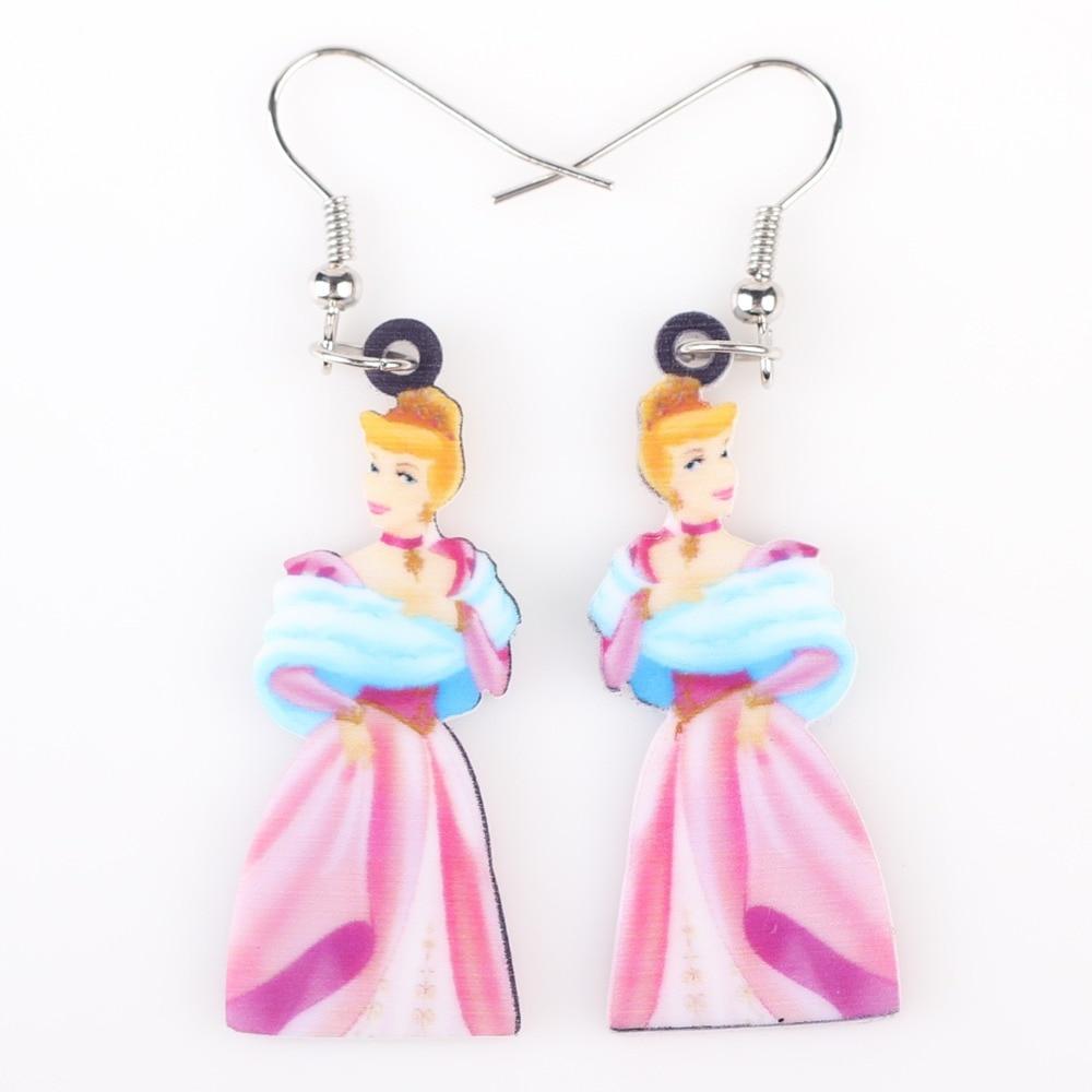 Newei Long Drop Brand Lovely Skirt Princess Earrings Acrylic New  Animal Jewelry Girls Women Cartoon Earrings Accessories