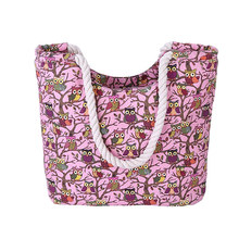 High Quality Owl Printing Canvas Shoulder Bag For Women Women's Handbags Shoulder Handbag Lady Bags Handbags Big Bag Ladies