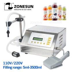 Zonesun 5-3500ml controle digital água bebida álcool perfume suco leite pequeno garrafa enchimento gfk 160 líquido máquina de enchimento