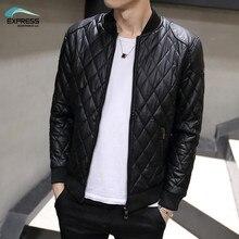 Favocent 2017 herbst und winter mode für männer lederjacke kragen schlank gewaschen pu-lederjacke mantel steppjacke m-3xl