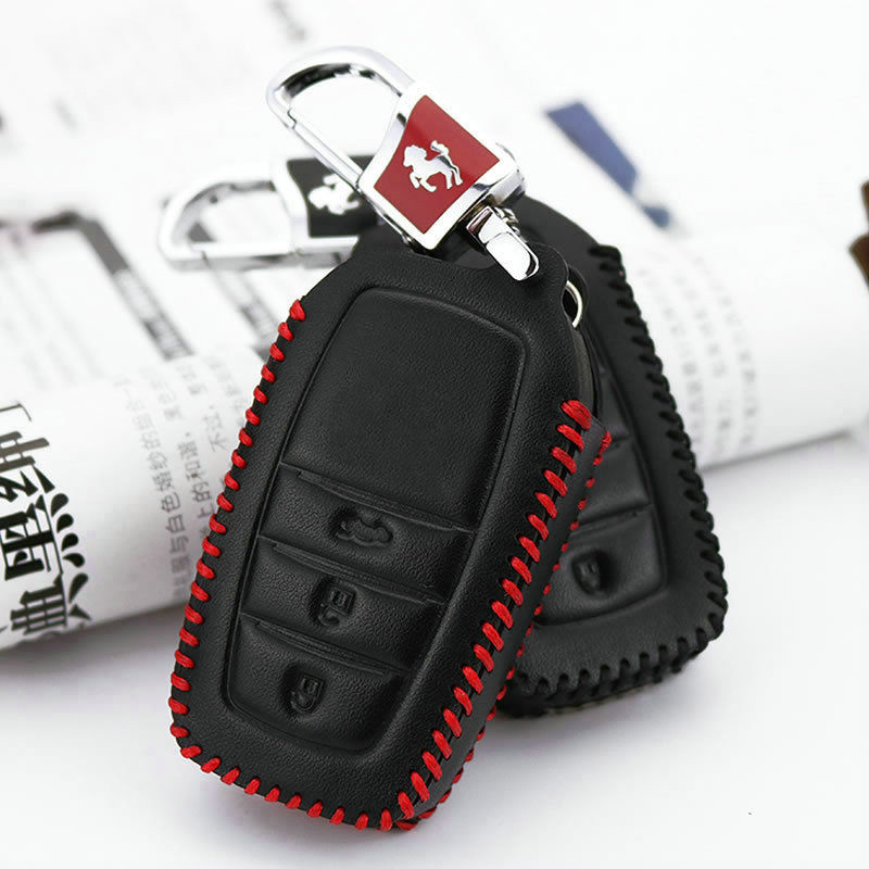 KUKAKEY Genuine Leather Car Key Case Key Bag For Toyota Crown Camry Highlander Remote Smart Car Key Cover Styling Accessories in Key Case for Car from Automobiles Motorcycles