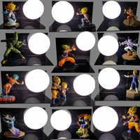 Dragon Ball Son Goku Vegeta Gohan Luminaria LED luces de noche lámpara de mesa Dragon Ball Room iluminación decorativa vacaciones regalos de navidad