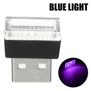 Image 4 - 1 Máy Tính Mini USB Đèn LED Xe Hơi Ô Tô Trang Trí Nội Thất Neon Bầu Không Khí Xung Quanh Đèn Đỏ Tím Trắng Màu Xanh