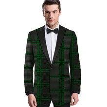 цена African print men blazers dashiki print suit jacket customized man Ankara outfit for party/wedding male dinner wear онлайн в 2017 году
