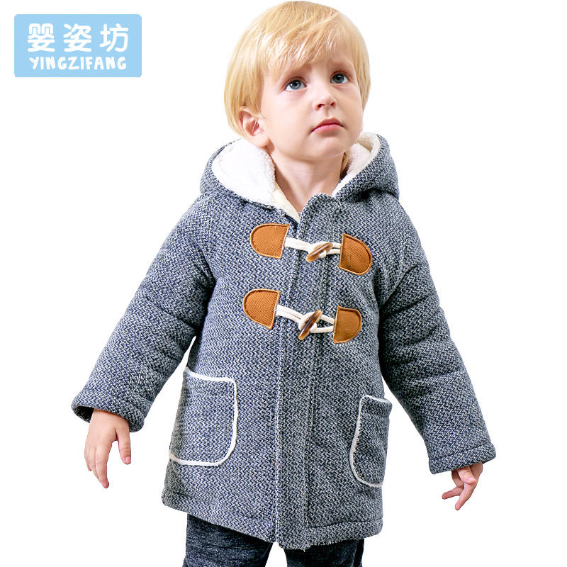 2017 Casual Toddler Winter Little Boys Casual Style Cotton Thick Hooded Coat Baby Winter Jacket Children Jackets Outerwear winter baby jackets outerwear casual toddler girls coats cute style cotton thick hooded coat children down outerwear