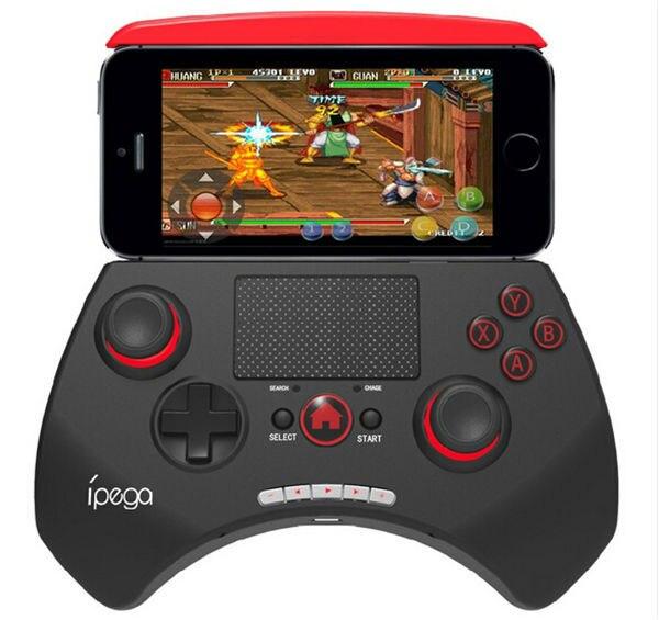 Livraison gratuite ipega PG-9028 sans fil bluetooth contrôleur de jeu manette de jeu avec pavé tactile pour ios android dispositif intelligent