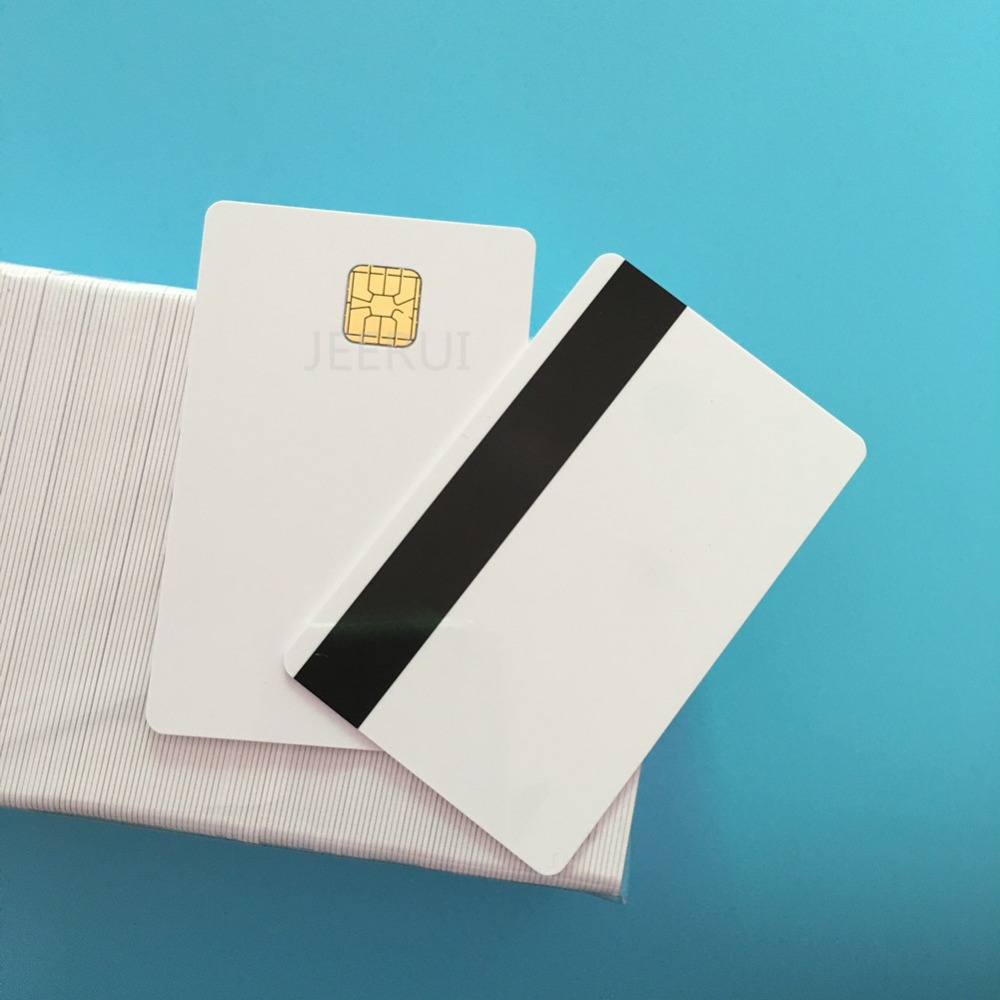 10pcs SLE4428 Hi Co 2750OE 4000OE Magnetic Stripe Credit Card Size Blank Contact Smart PVC Card