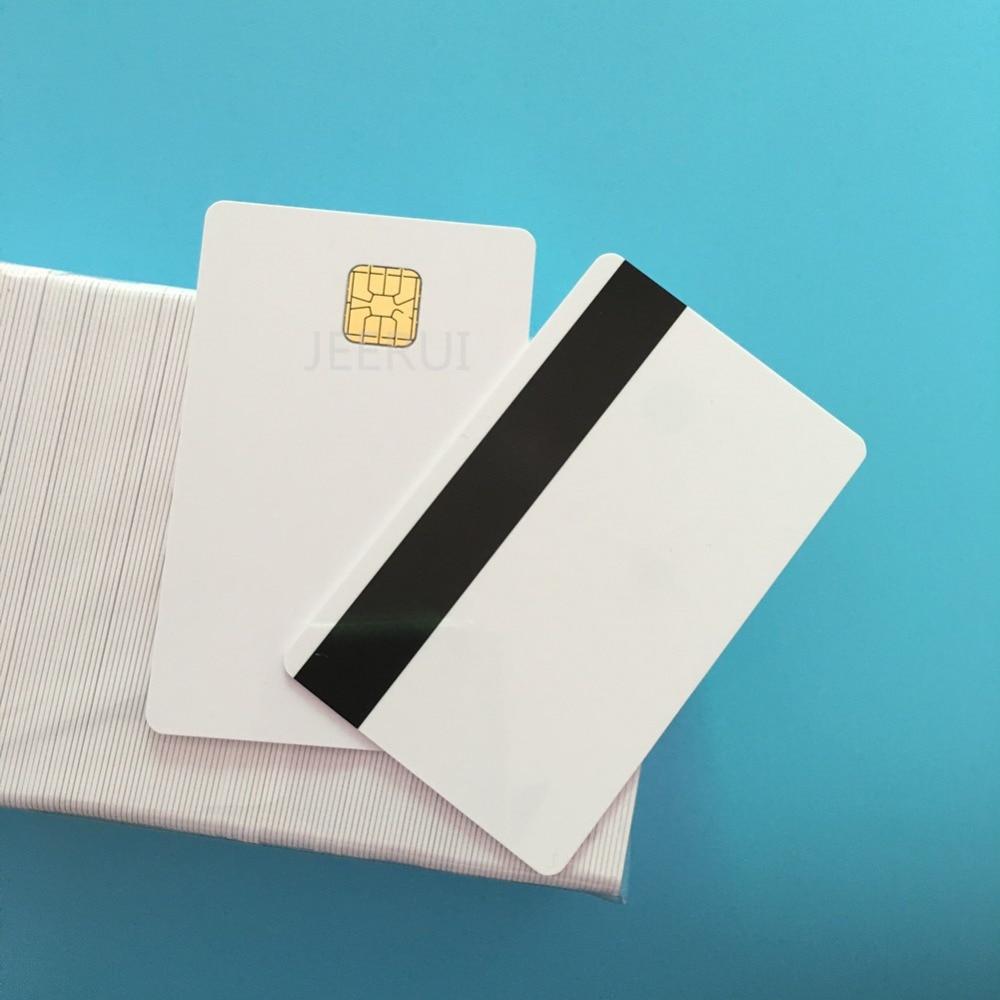 10pcs SLE4428 Hi Co 2750OE 4000OE Magnetic Stripe Credit Card Size Blank Contact Smart PVC Card