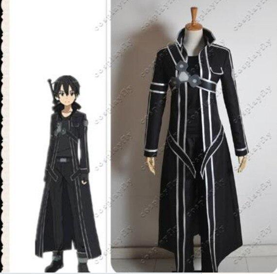 Sword Art Online Kazuto Kirigaya pu leather jacket font b shirt b font pant set cosplay