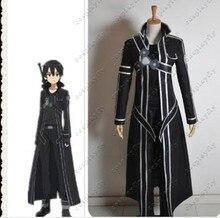 Sword Art Online Kazuto Kirigaya pu leather jacket shirt pant set cosplay costume