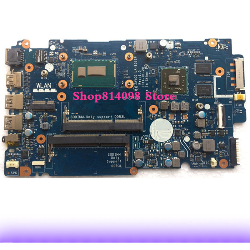 KEFU CN-0XT04J XT04J FIT FOR Dell Inspiron 5447 5442 5542 5547 Laptop Motherboard ZAVC0 LA-B012P REV:1.0 I3-4030U mainboard