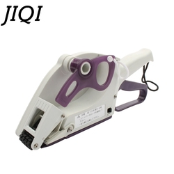 JIQI Semi-automatic Round Bottle Adhesive Sticker Square Code Manual Packing Labeling Machine Handle pricing tag Bidder Labeller