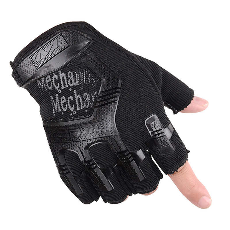 New Tactical Gloves Men Half Finger Military Army Fighting Combat Outdoor Anti-slip Carbon Fingerless Rekawiczki Handschoenen
