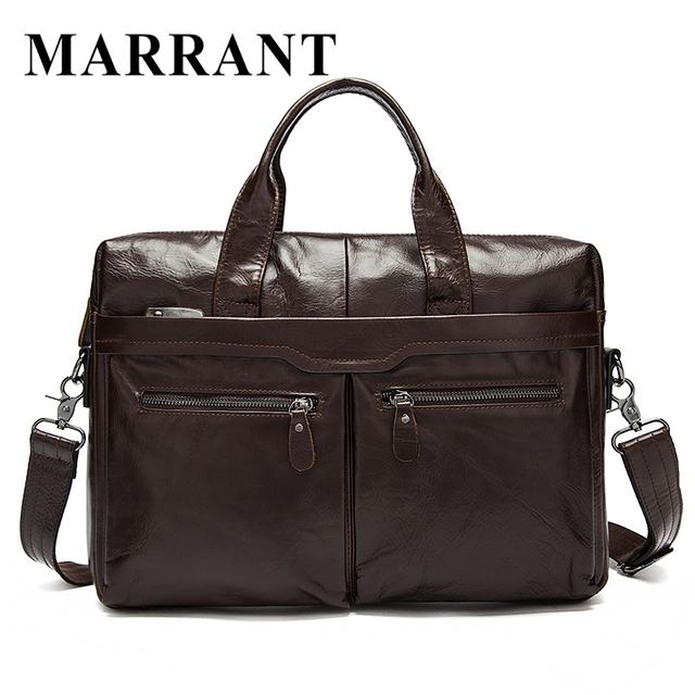 MARRANT Genuine Leather Bag Casual Men Handbags Cowhide Men Crossbody Bags Men's Travel Bags Tote Laptop Briefcases Bag 9005