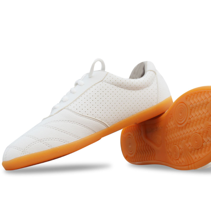 New PU Taichi Shoes, Summer Taiji Soft Shoes Ox Martial Art Shoe, Practice kungfu Morning Exercises Shoe