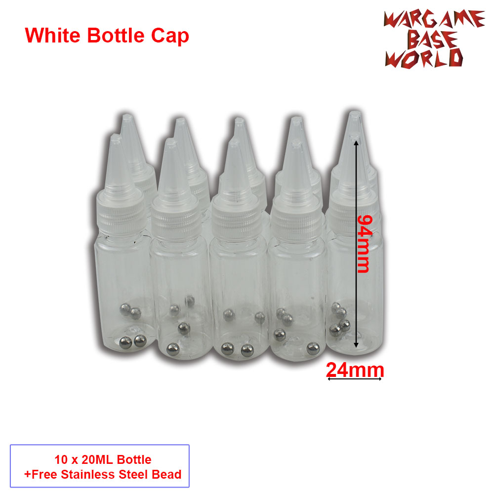 White Bottle Cape - Model Paint Mixing Bottle Painting Storage Bottles With Mixing Stainless Steel Ball Hobby