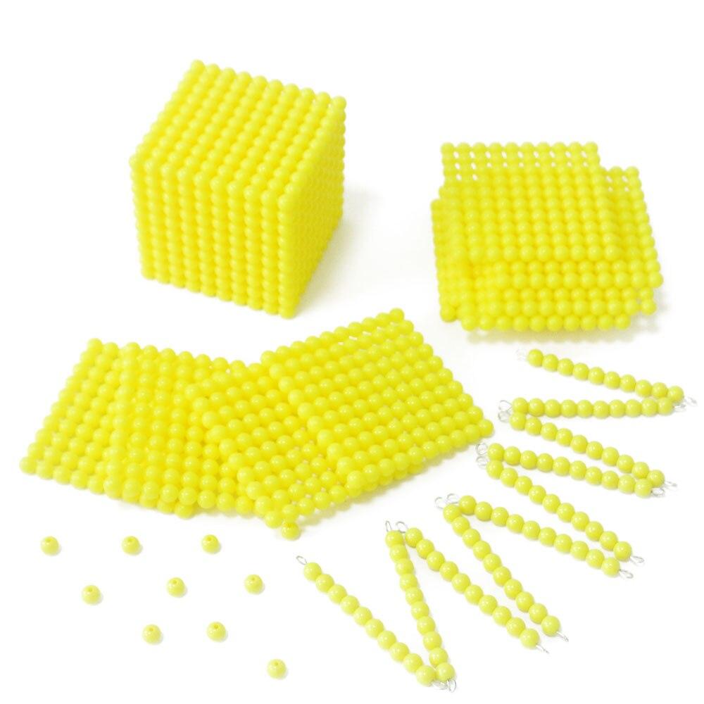 Montessori Math Materials Decimalism Cube Beads Set Counting Math Toys Educational Toys For Children Juguetes Montessori E2464H