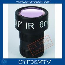 CCTV f1.4 6mm Lente cctv para la cámara de CCTV M12 * 0.5 tornillos de Montaje MTV. envío libre. CYF06MTV