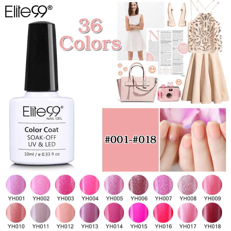 Elite99 10ml Newest Magenta Color Series Uv Nail Gel Polish Soak Off Colorful Art Long Lasting Lacquer Gelpolish