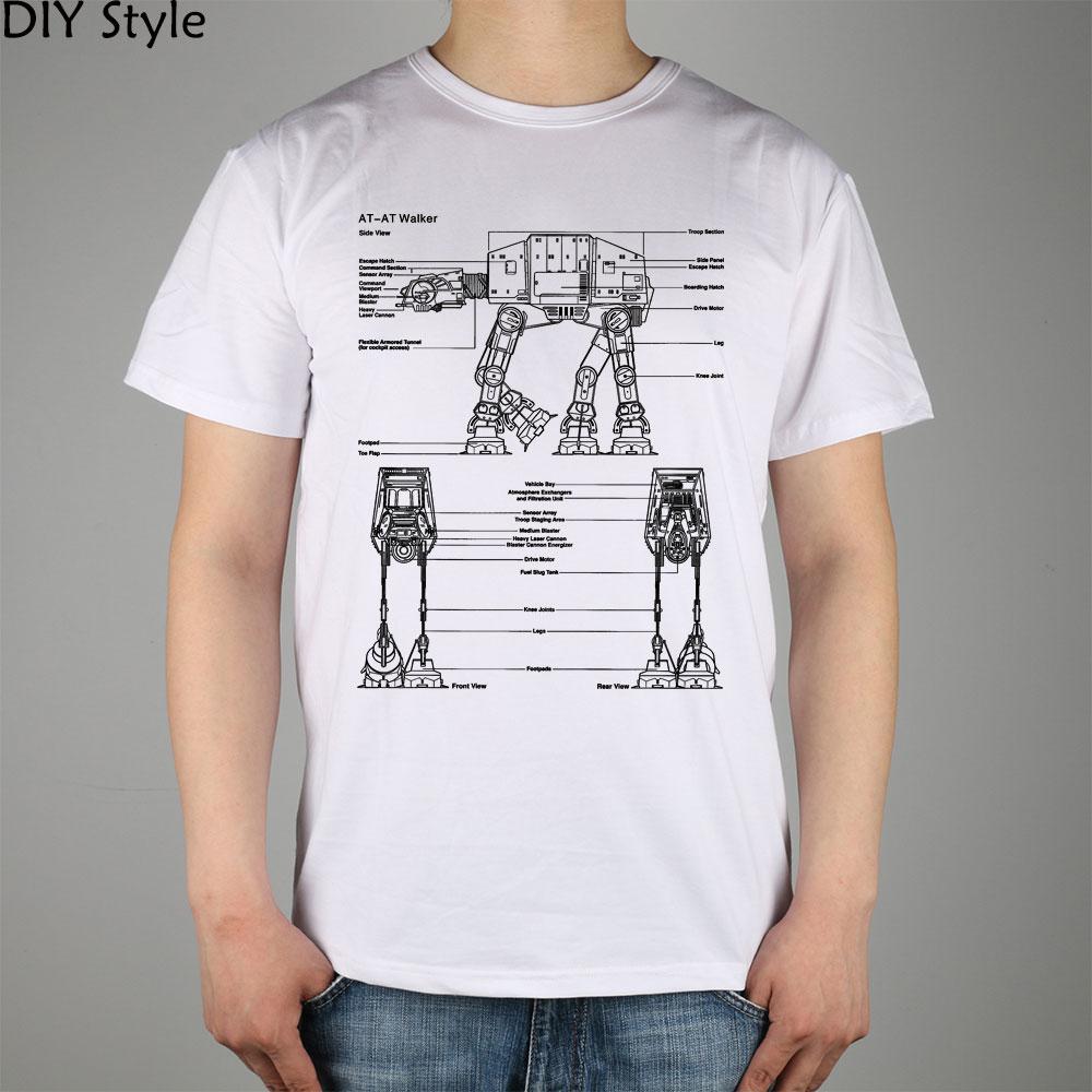 Design t shirt diy - 2014 Diy Style Design At At Walker Star Wars T Shirt Cotton Lycra Top Fashion Brand T Shirt Men New High Quality