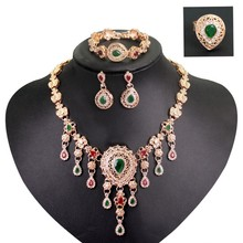 Four pieces Luxury Gift Necklace decoration Dubai gold jewelry suit romantic design delivered directly