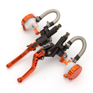 Image 4 - Orange Adjustable Universal Motorcycle Hydraulic Clutch Brake Pump Master Cylinder Set For 7/8 Handlebar 125cc   400cc Racing